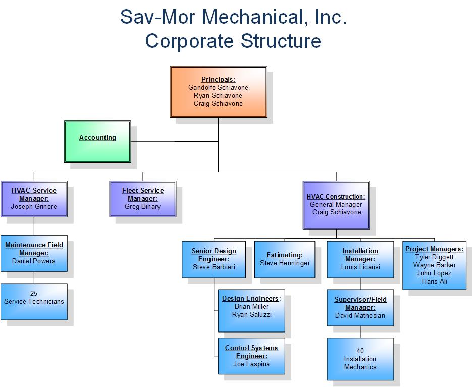 Sav More Corporate Structure